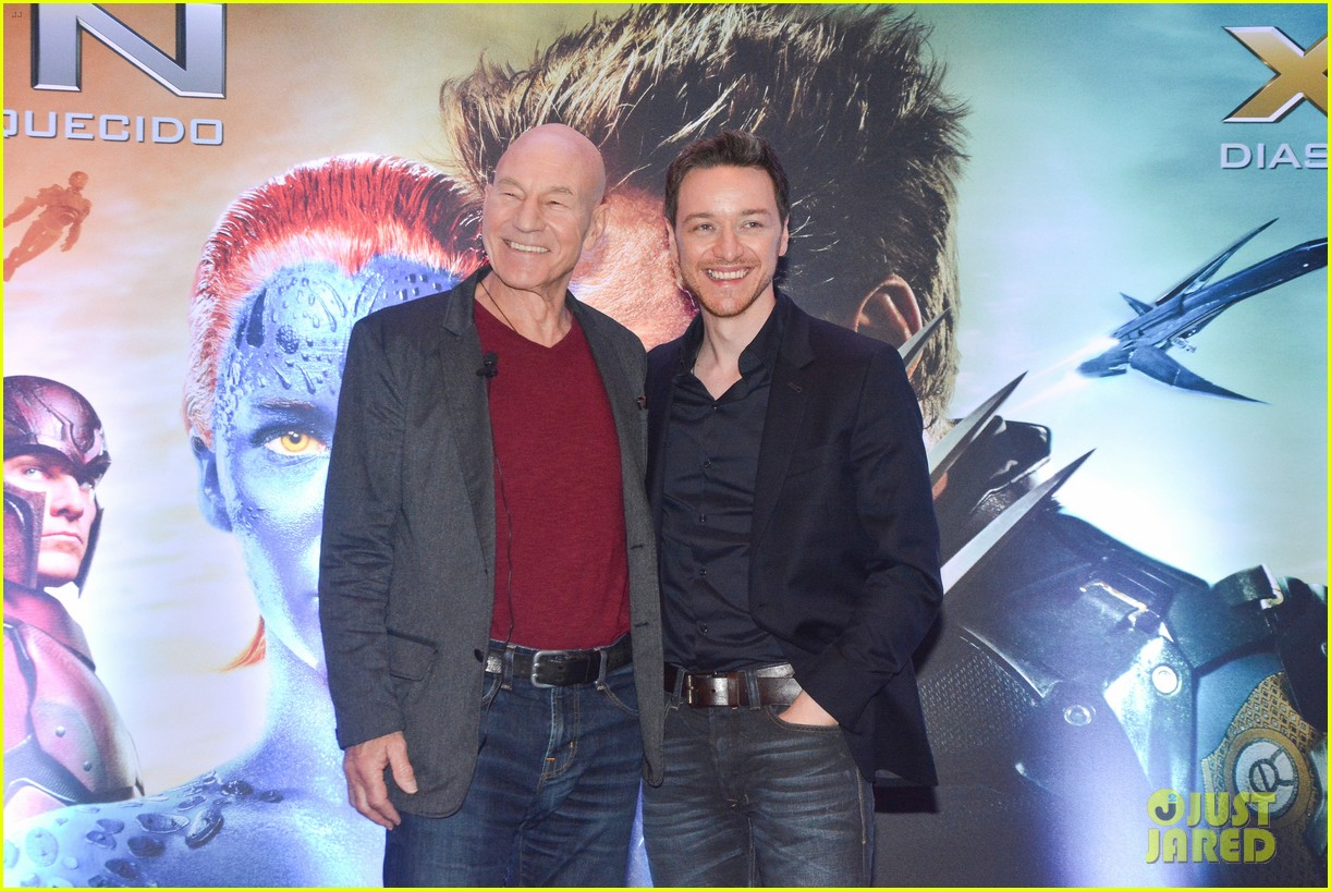 james mcavoy joins patrick stewart in sao paulo for x men press 053113891