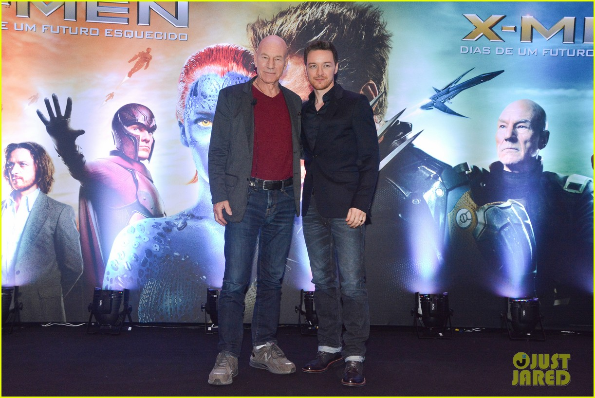 james mcavoy joins patrick stewart in sao paulo for x men press 093113895