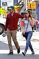 leighton meester adam brody romantic new york stroll 02