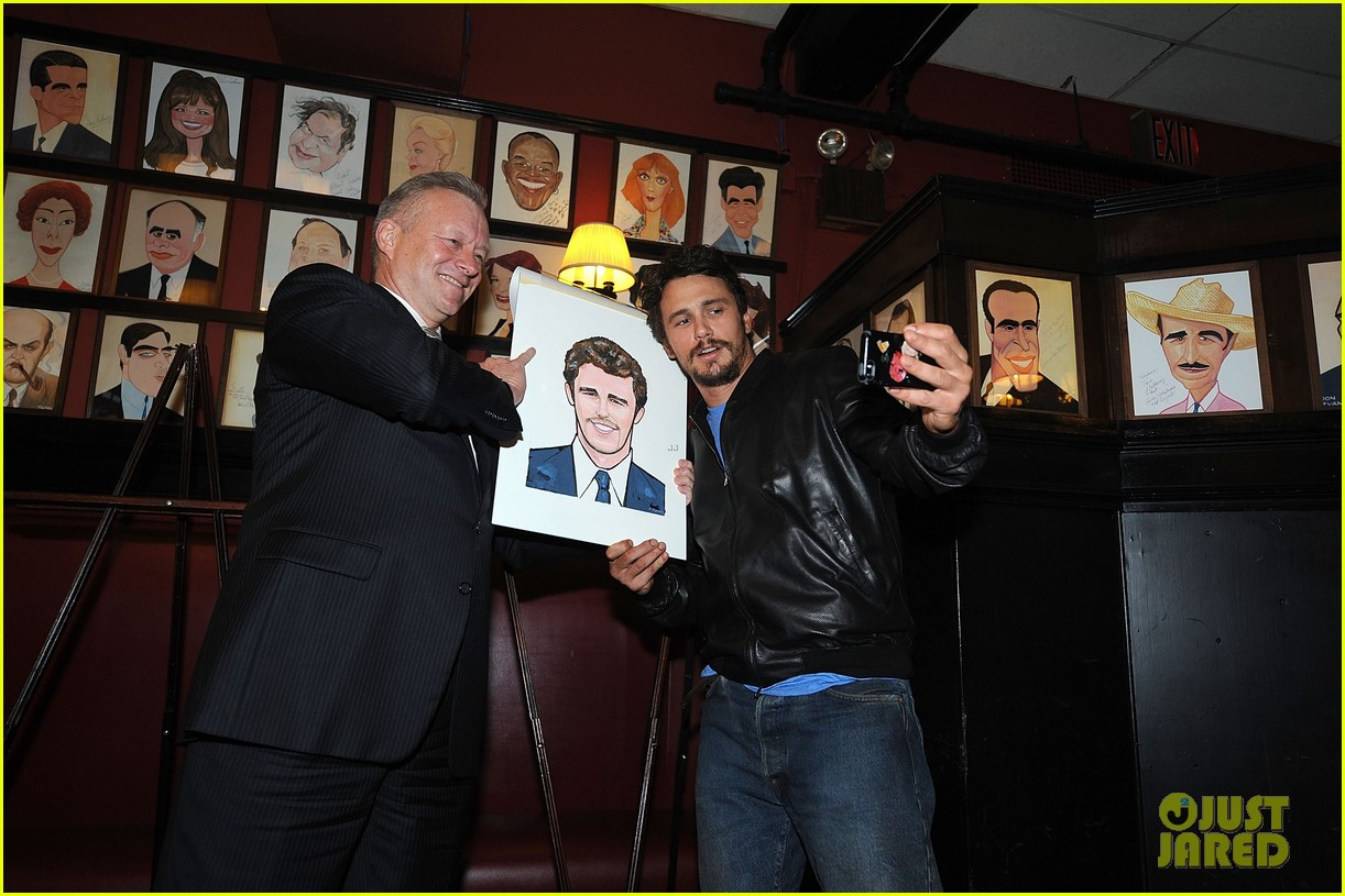 leighton meester james franco get caricatures at sardis 153119454