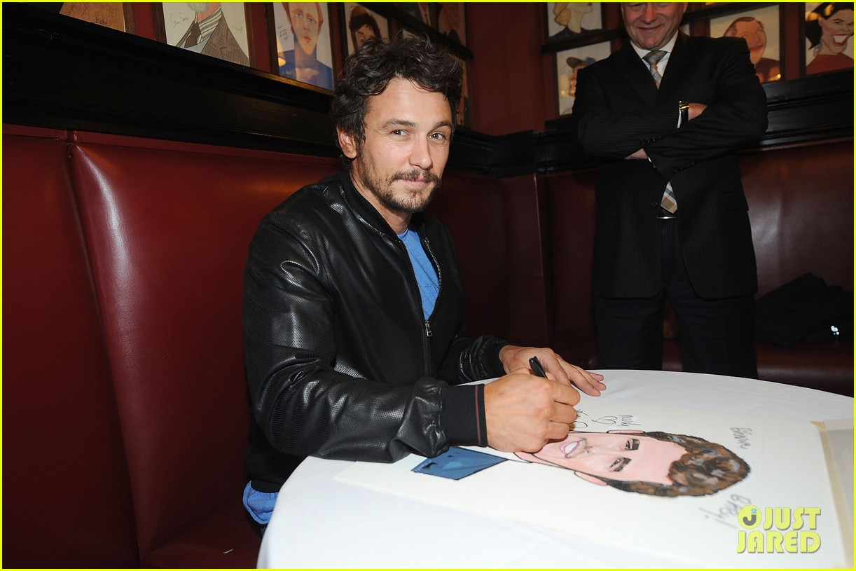 leighton meester james franco get caricatures at sardis 223119461