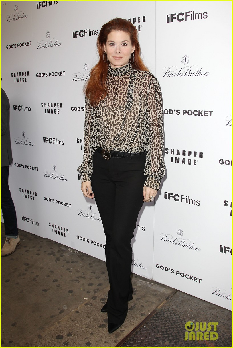 debra messing shows her support for philip seymour hoffman at gods pocket screening 013105522