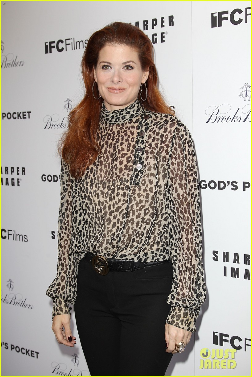 debra messing shows her support for philip seymour hoffman at gods pocket screening 083105529