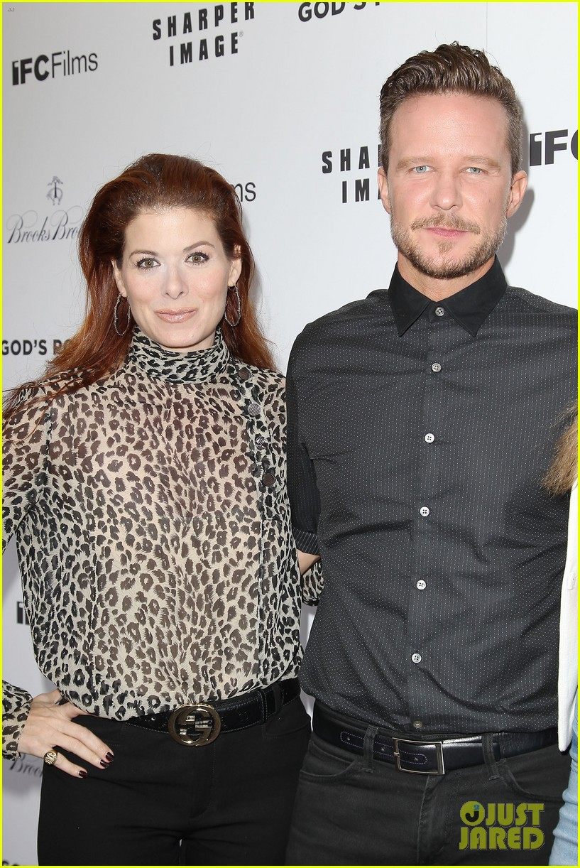 debra messing shows her support for philip seymour hoffman at gods pocket screening 333105554