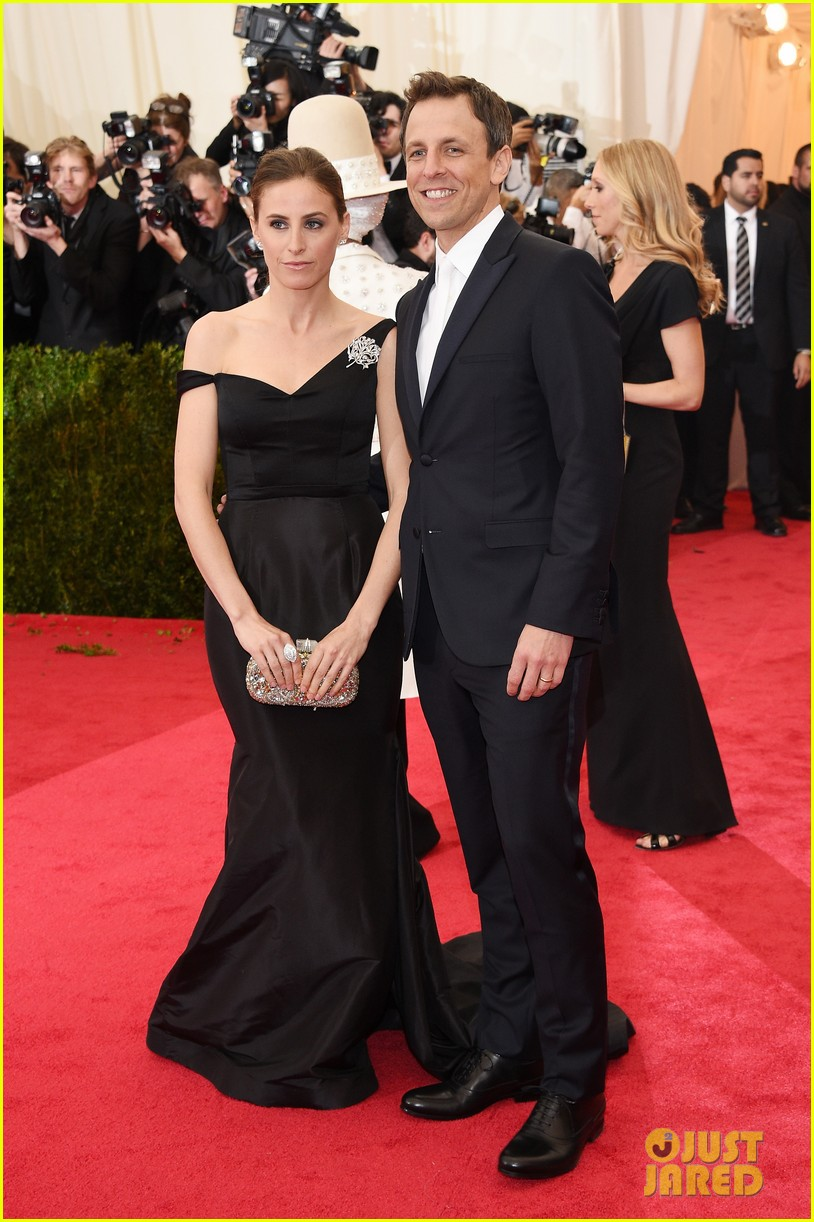 seth meyers brings wife alexi ashe to met ball 2014 013106507