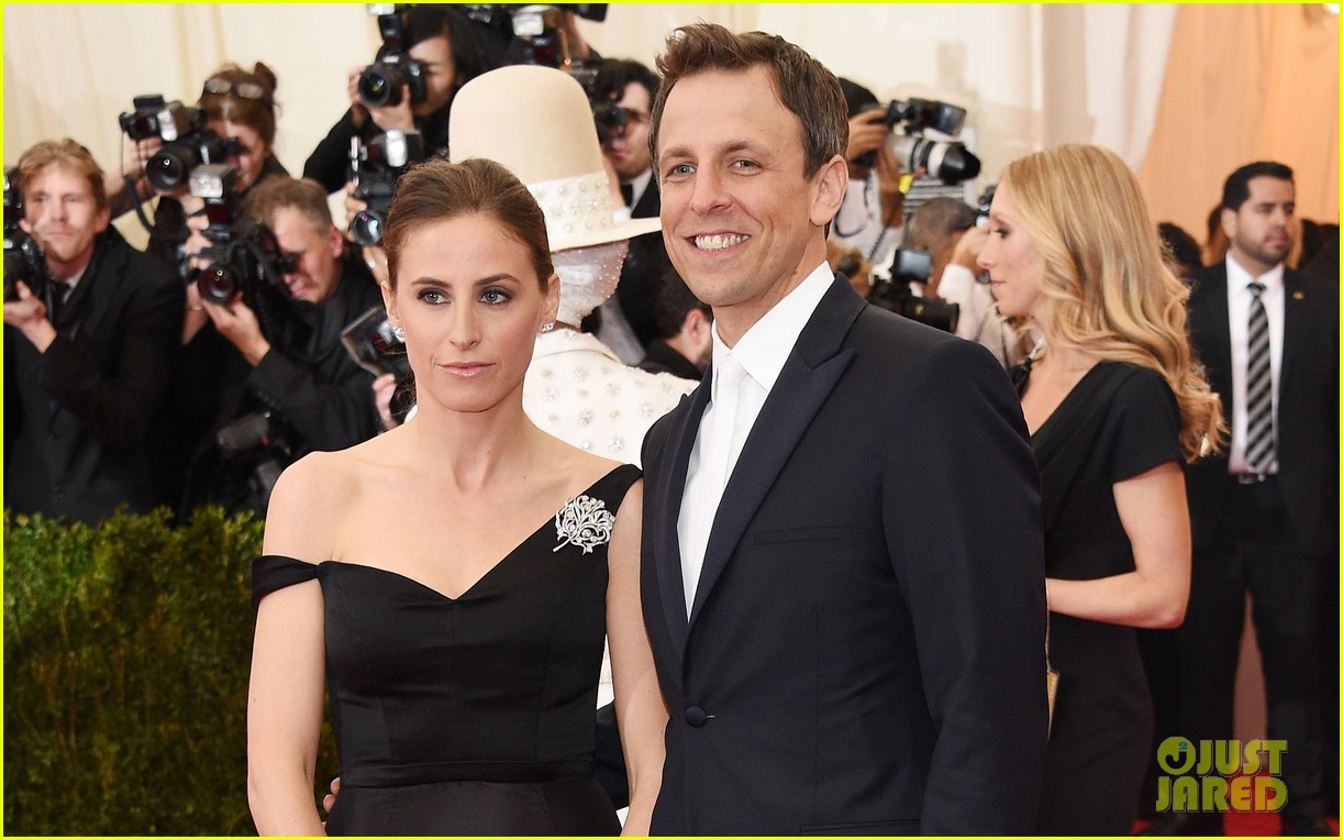 seth meyers brings wife alexi ashe to met ball 2014 033106509