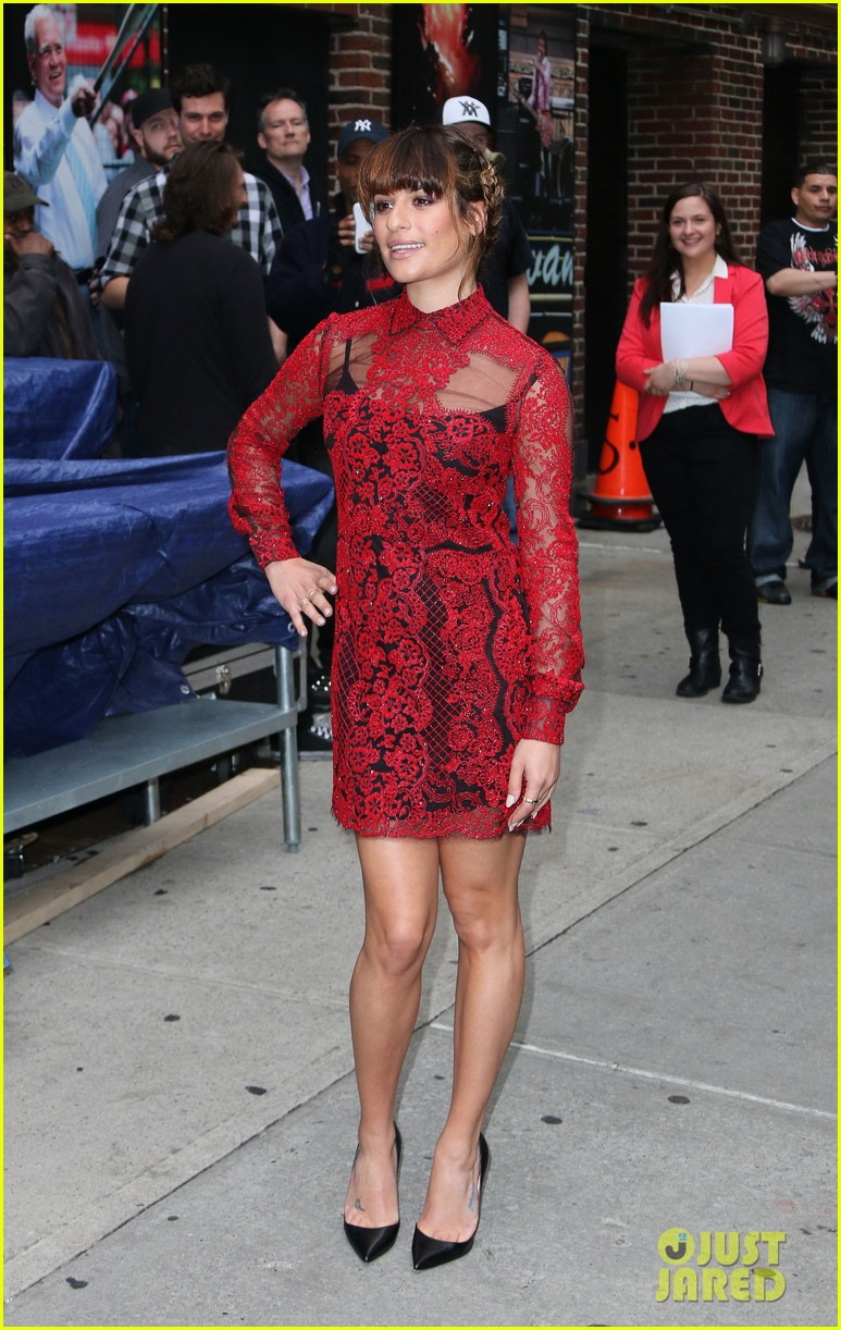 lea michele late show with david letterman 103114455