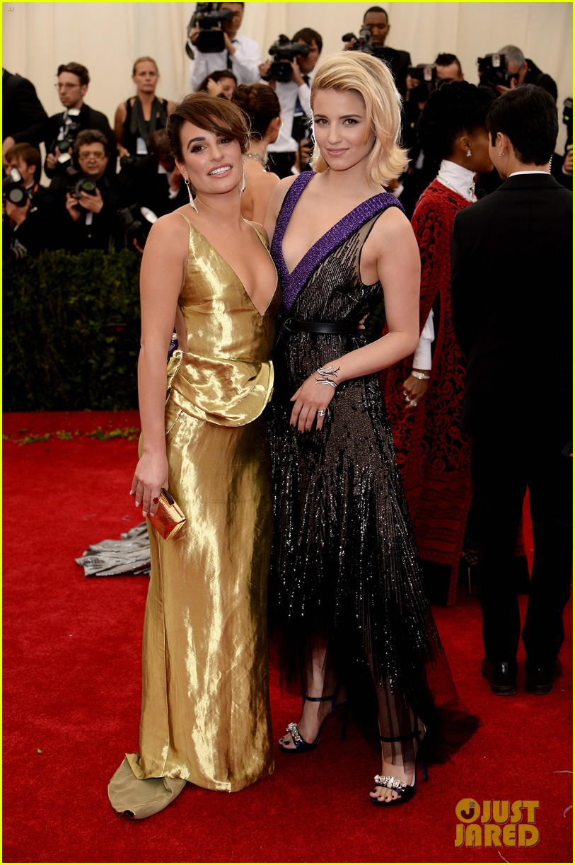 lea michele dianna agron met ball 2014 07