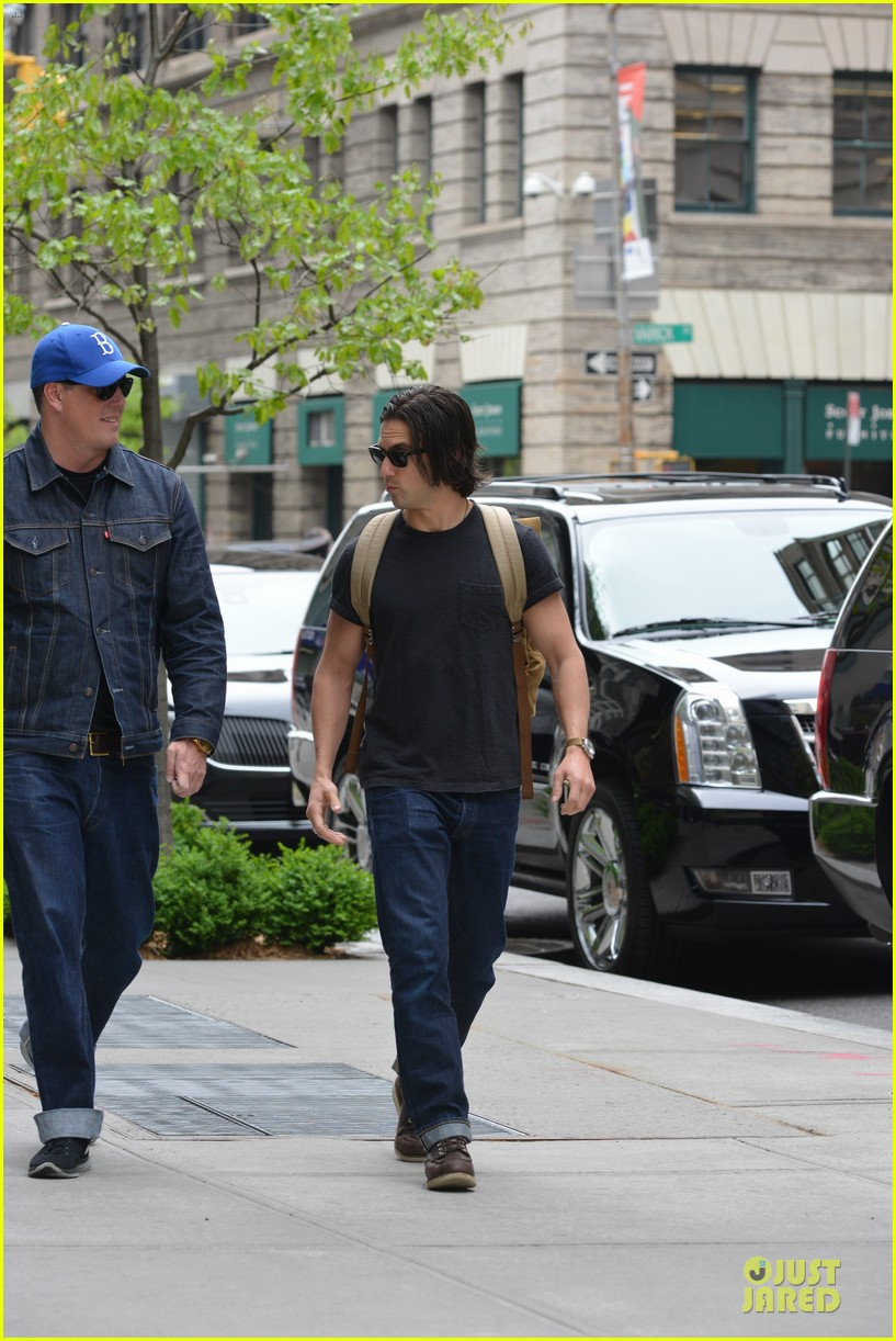 milo ventimiglia muscles in a tee in nyc 033115311