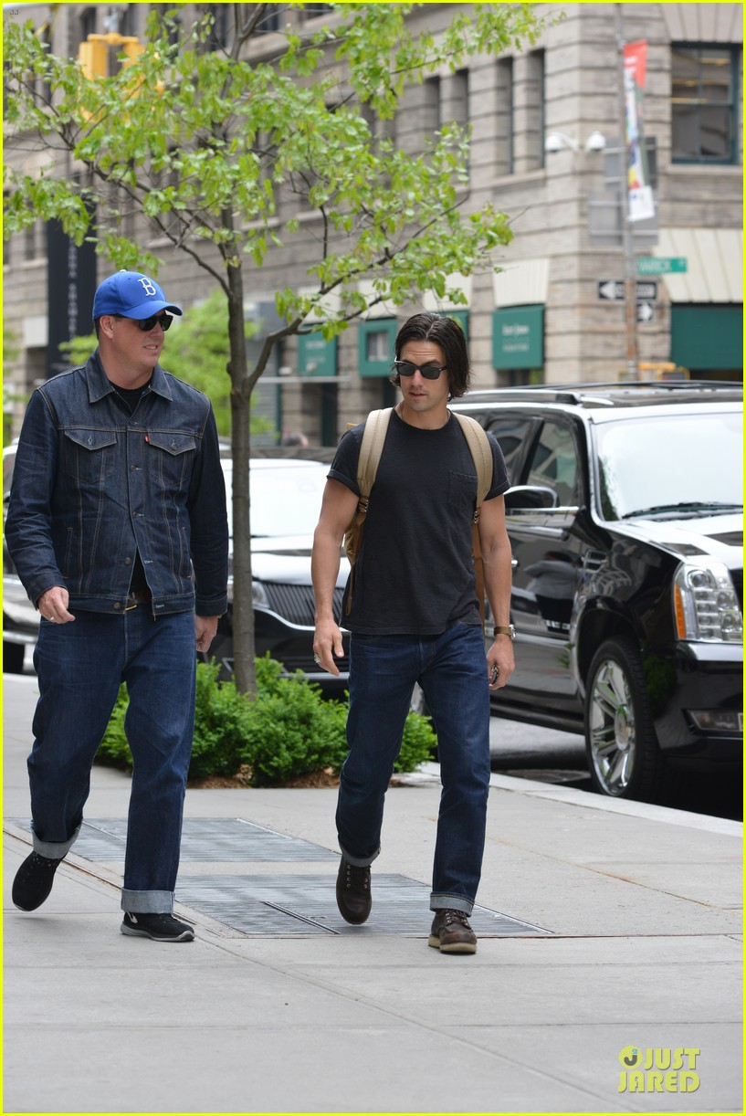 milo ventimiglia muscles in a tee in nyc 063115314