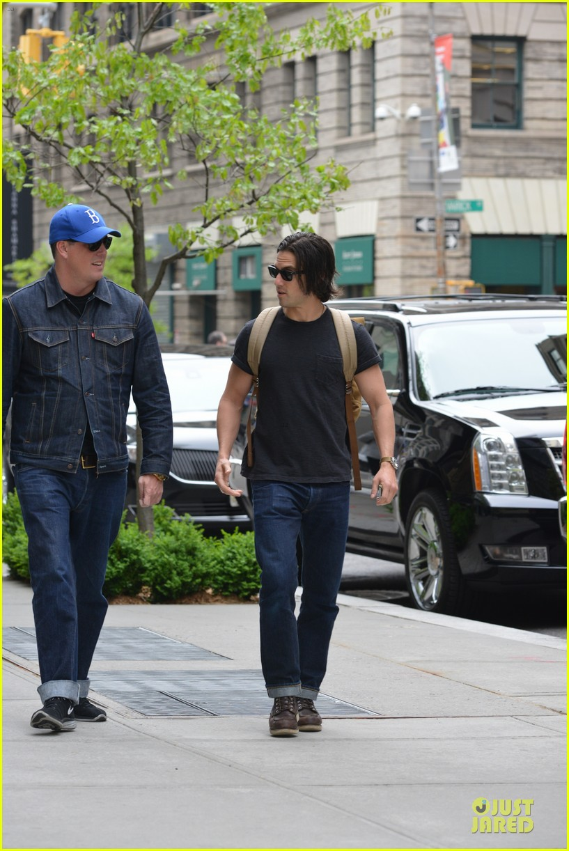 milo ventimiglia muscles in a tee in nyc 083115316