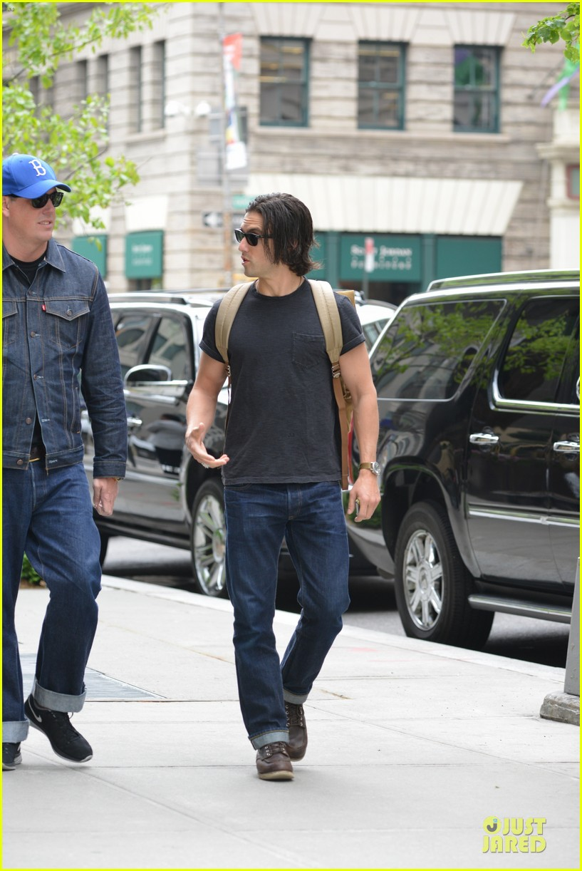 milo ventimiglia muscles in a tee in nyc 113115319