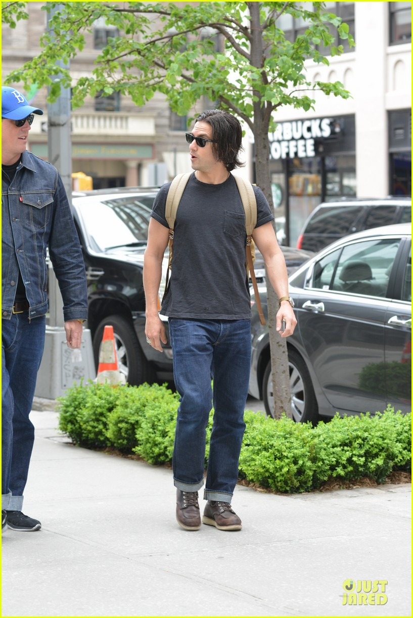 milo ventimiglia muscles in a tee in nyc 163115324