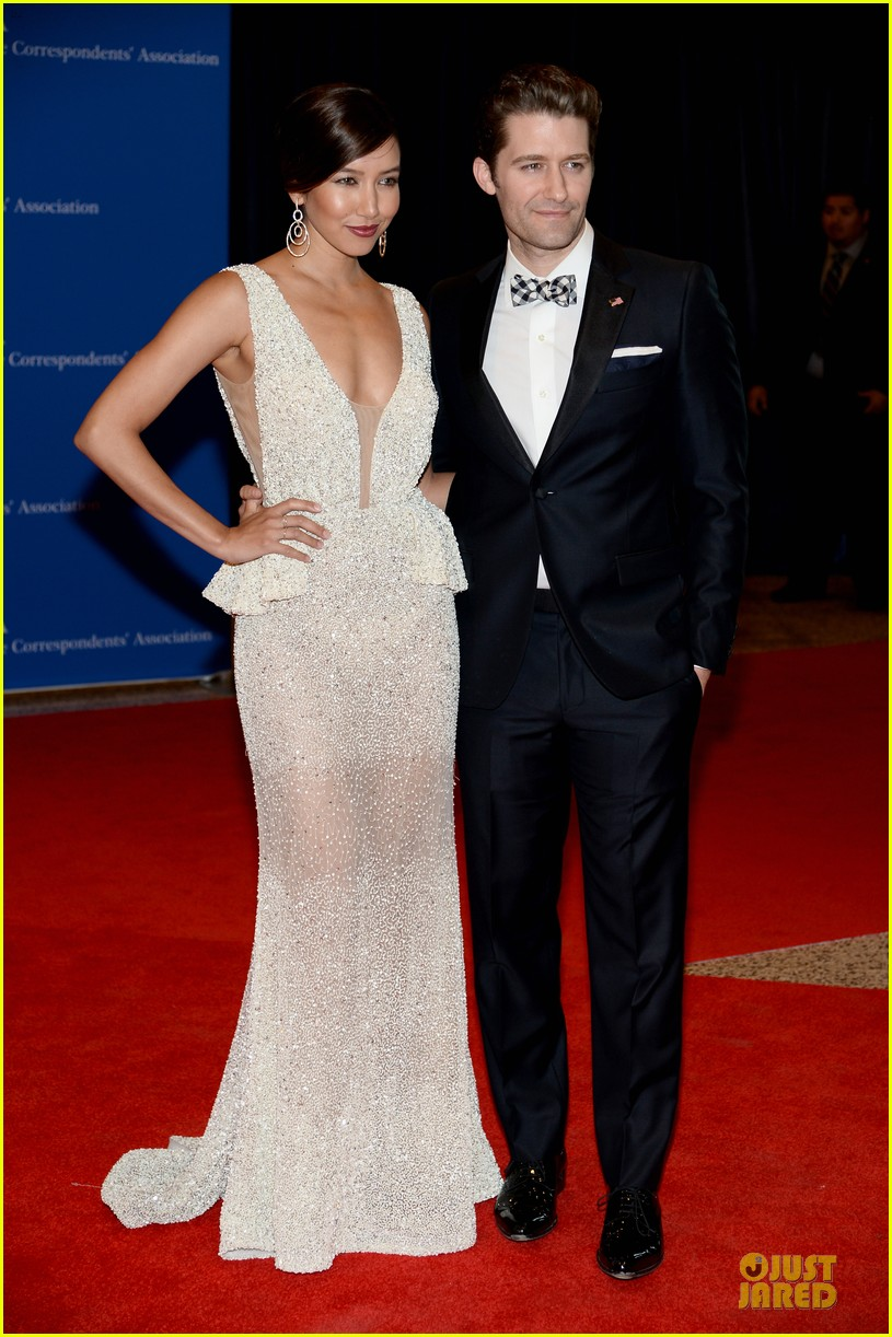 matthew morrison renee puente white house correspondents dinner 2014 05