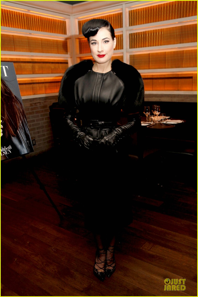 elizabeth olsen dita von teese flaunt shark issue party 073107230