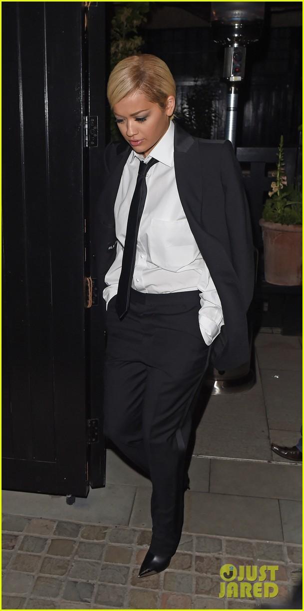 cd0db0f71c93c Rita Ora Strips Down From Suit to Bra & Underwear During London Show ...