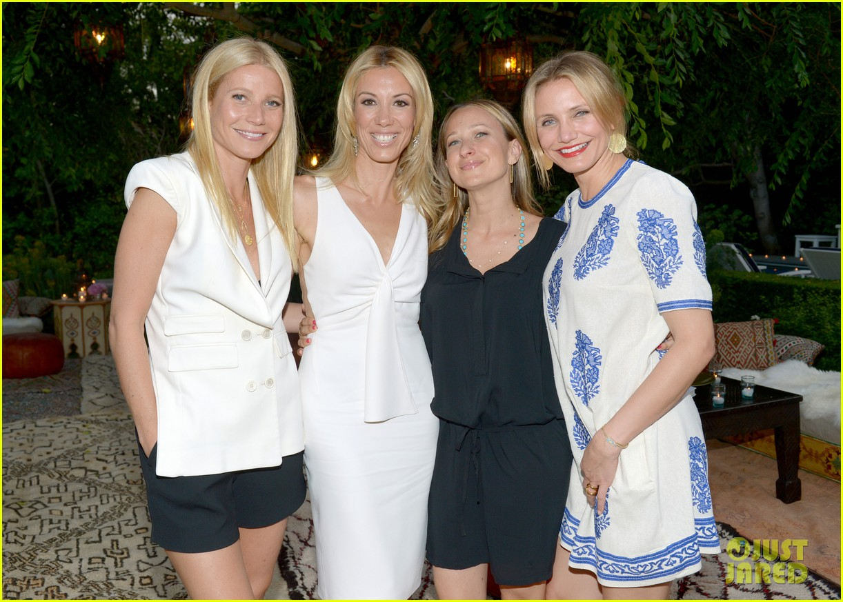 gwyneth paltrow cameron diaz show their support for vicky vlachonis 093114892