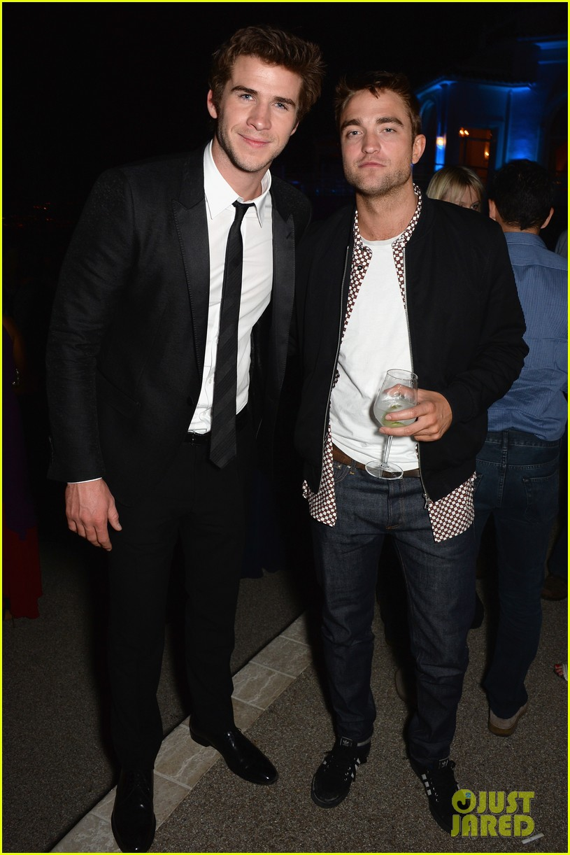 robert pattinson parties with hunger games stars in cannes 073115941