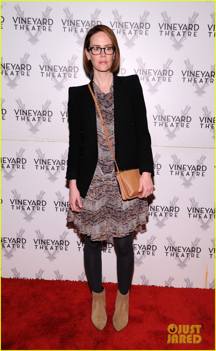 sarah paulson andrew rannells support new theater in new york 013117230
