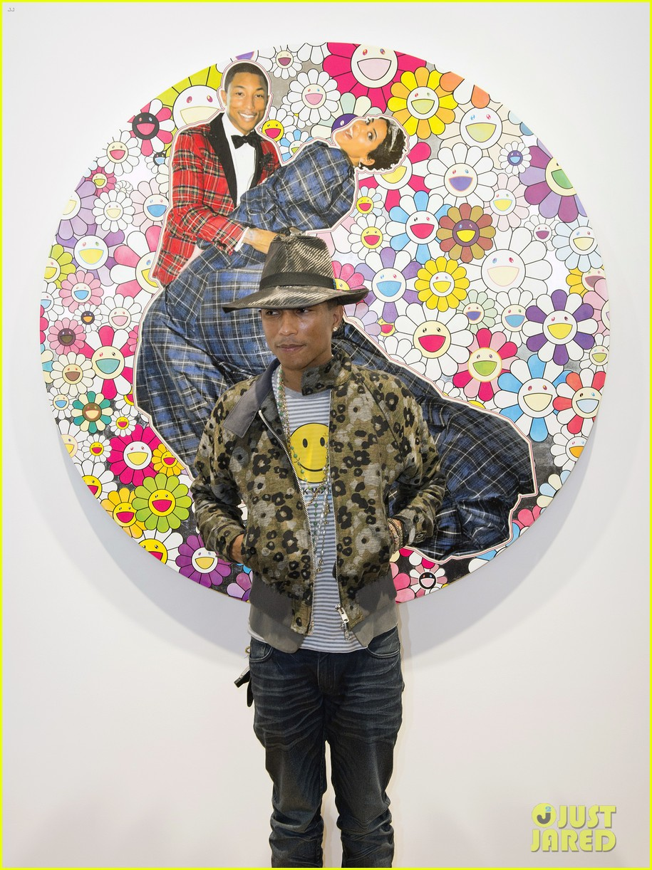 pharrell williams happy shirt paris art gallery opening 043122416
