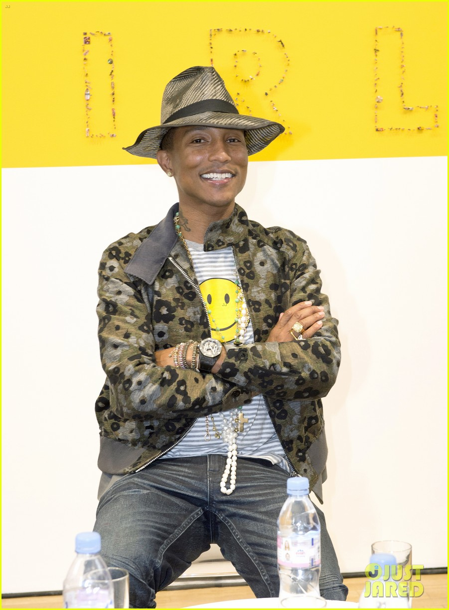 pharrell williams happy shirt paris art gallery opening 063122418