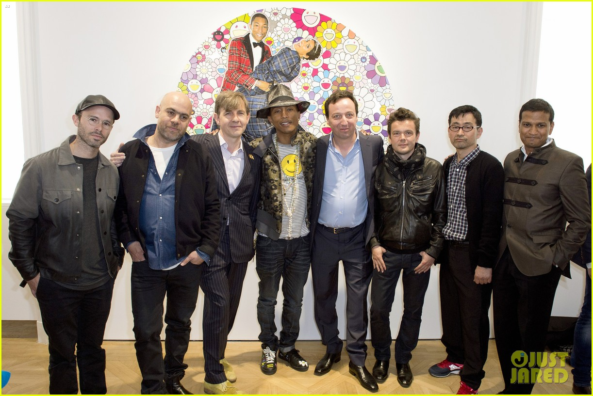 pharrell williams happy shirt paris art gallery opening 113122423