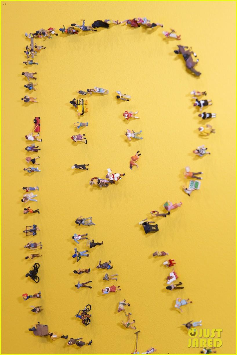 pharrell williams happy shirt paris art gallery opening 173122429