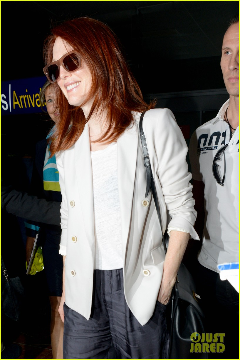 freida pinto julianne moore others arrive at cannes 103113166