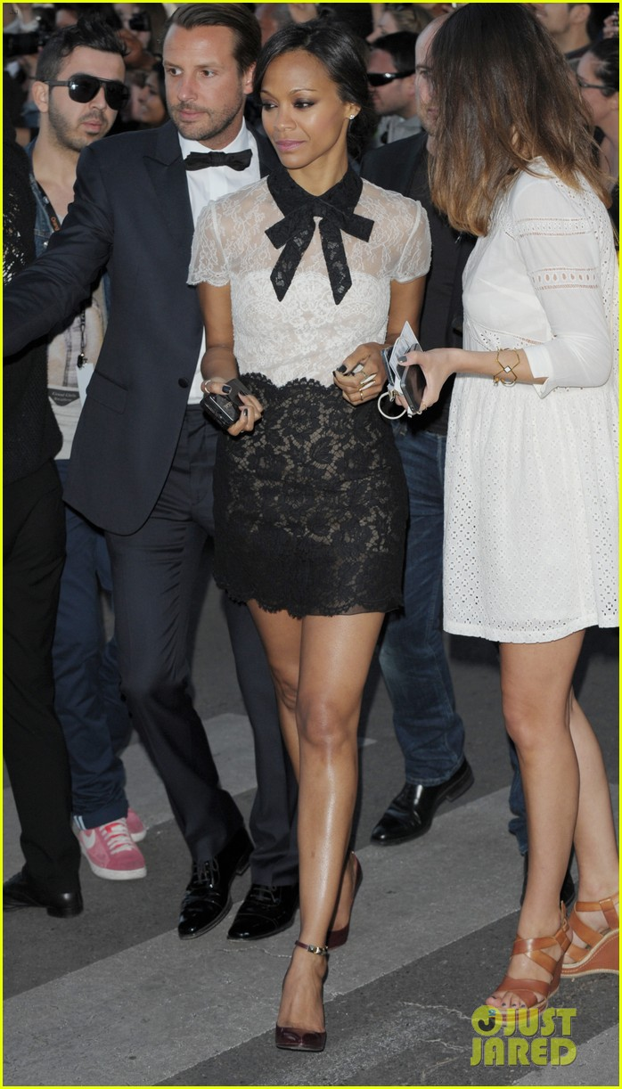 freida pinto zoe saldana dress chic for cannes sightings 033114330