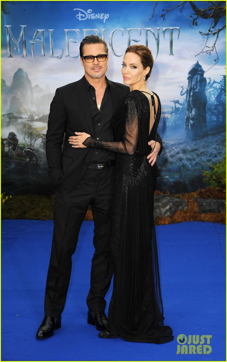 brad pitt angelina jolie maleficent london 073108717