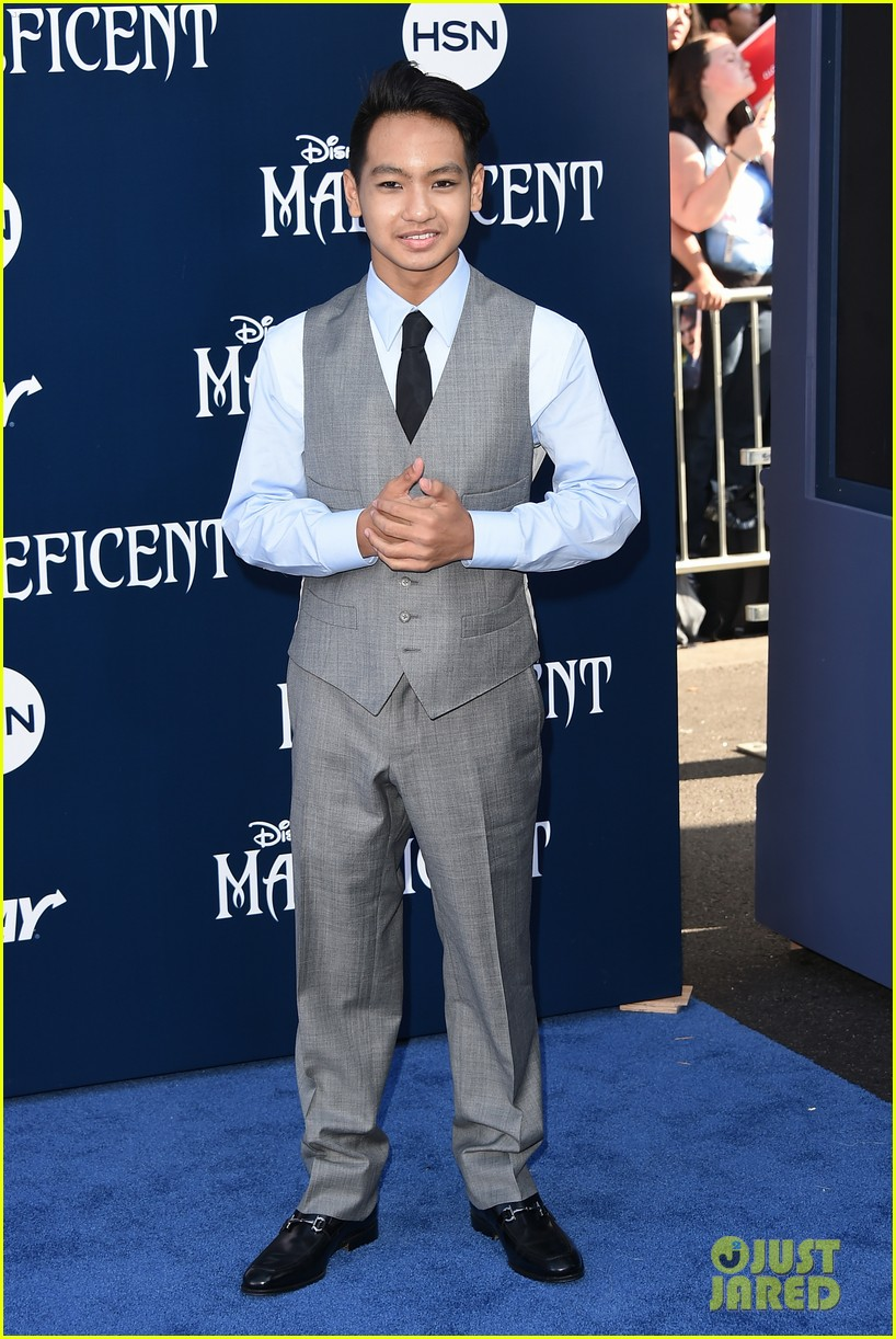 maddox jolie pitt looks so dapper in his suit at maleficent premiere 013123904