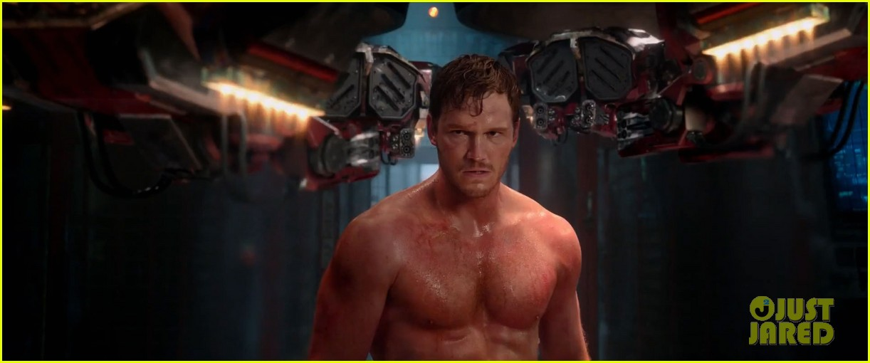 chris pratt flaunts ripped abs in new guardians of the galaxy trailer teaser 013115867