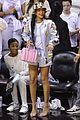 rihanna cheers on lebron james at nets heat game 27
