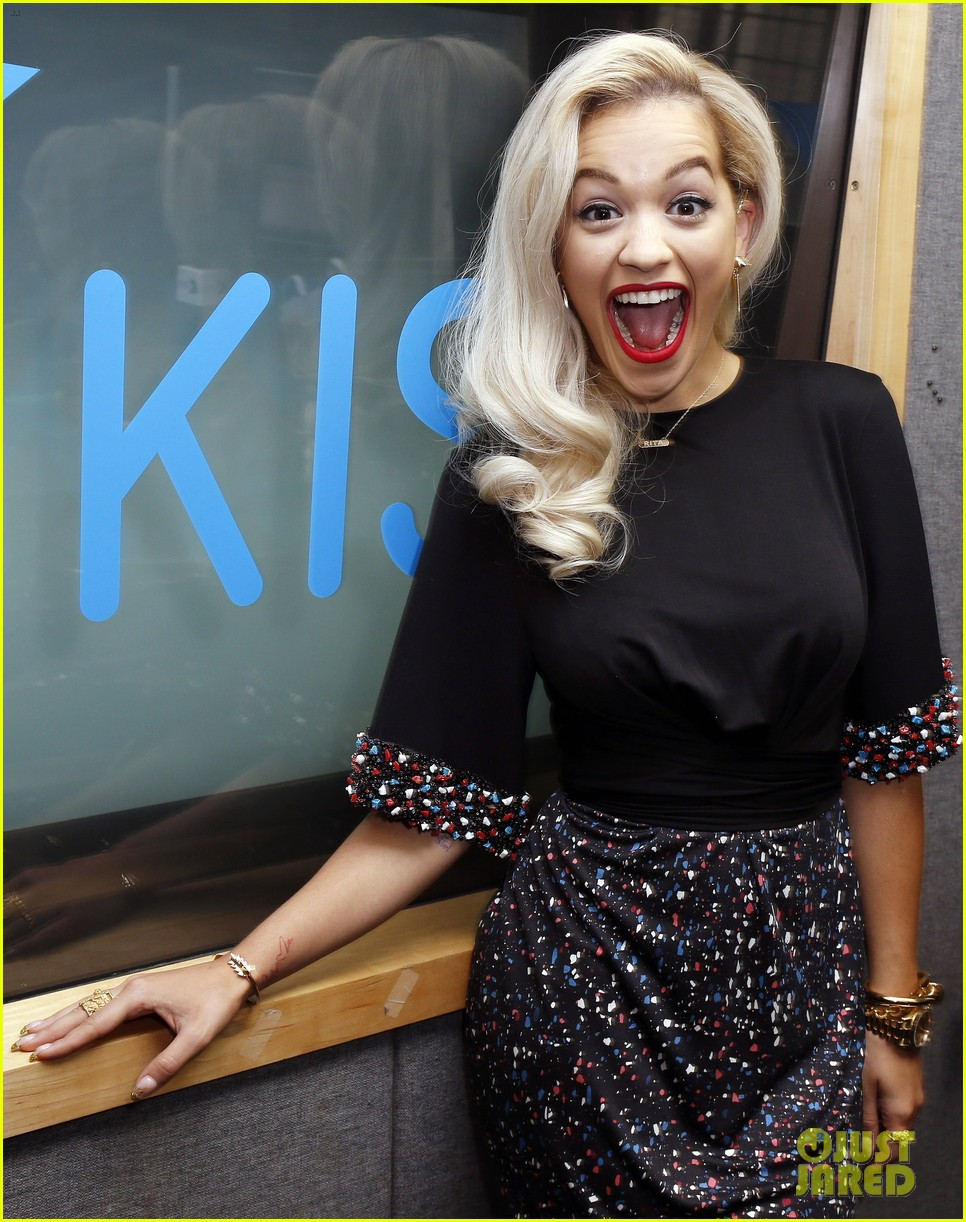 rita ora celebrates no 1 single topless 163112908