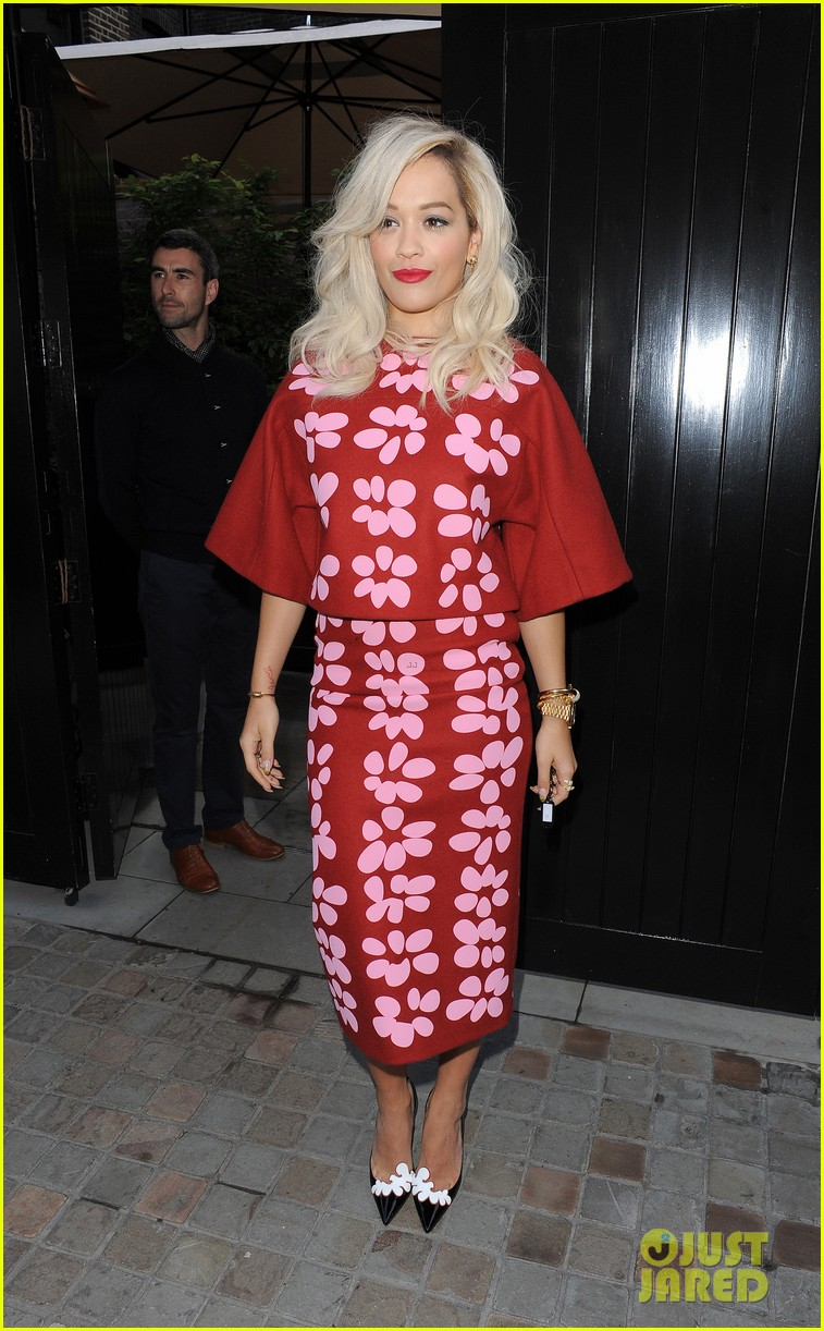 rita ora celebrates no 1 single topless 283112920