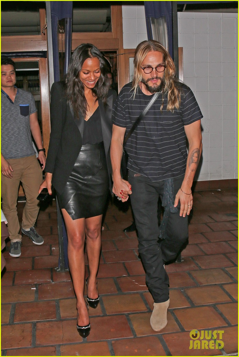 zoe saldana cannot contain her giggles out with marco perego 013105233