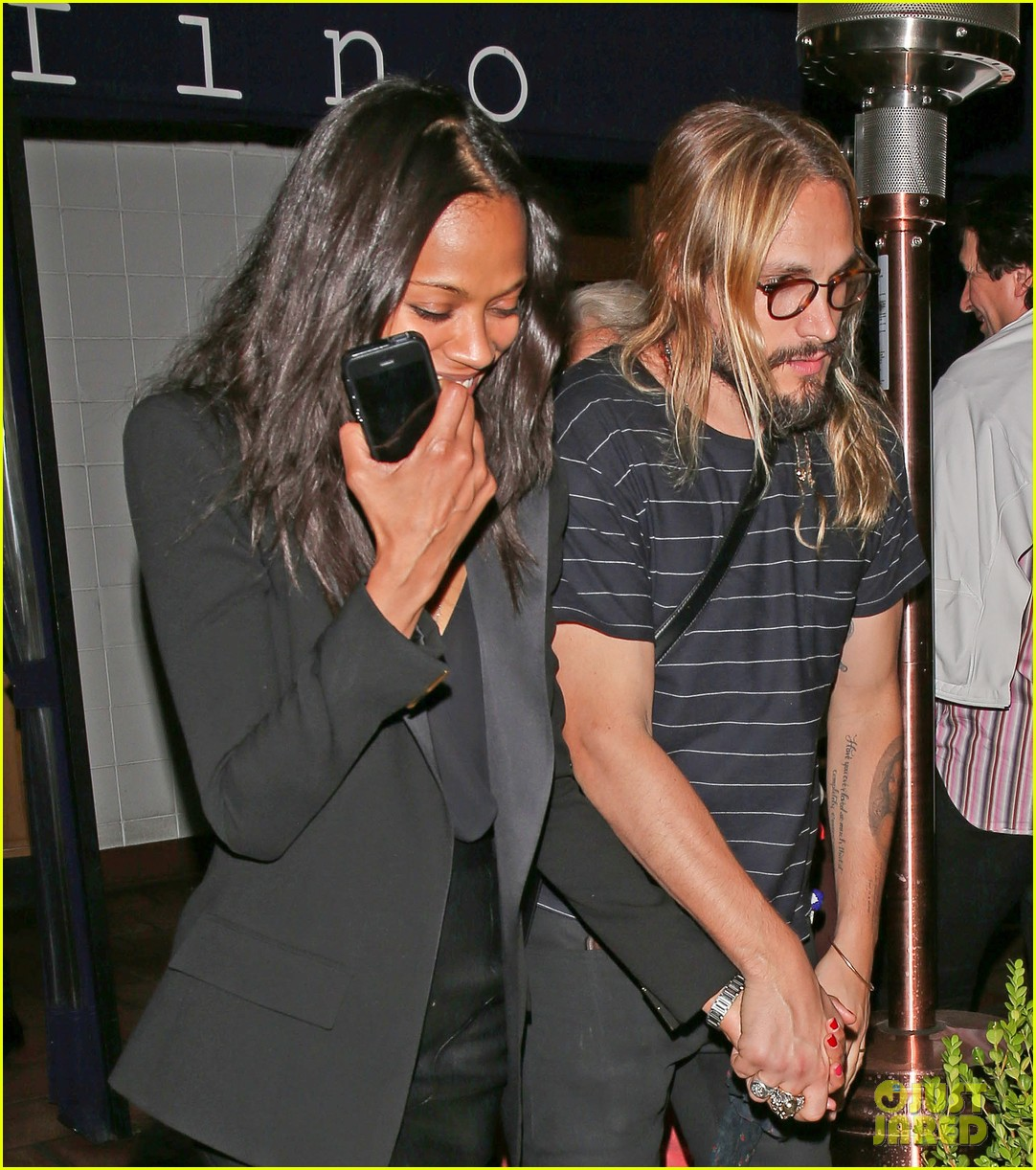 zoe saldana cannot contain her giggles out with marco perego 023105234