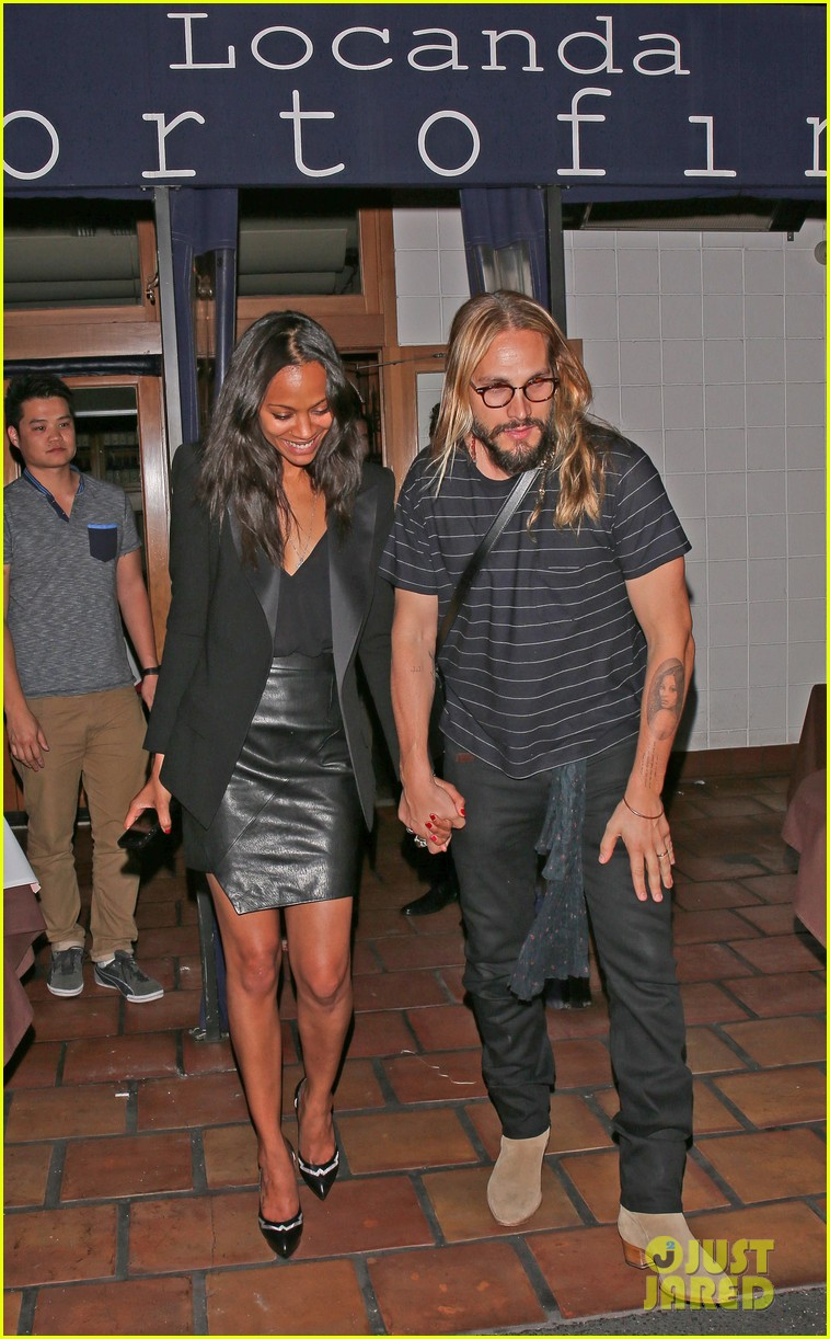zoe saldana cannot contain her giggles out with marco perego 083105240