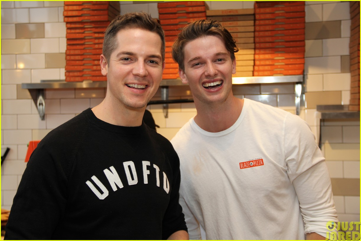 patrick schwarzenegger celebrates the opening of blaze pizza with family and friends053121533