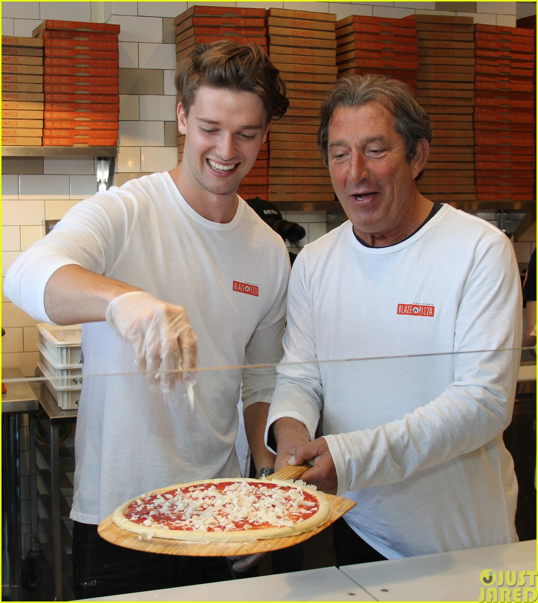 patrick schwarzenegger celebrates the opening of blaze pizza with family and friends063121534