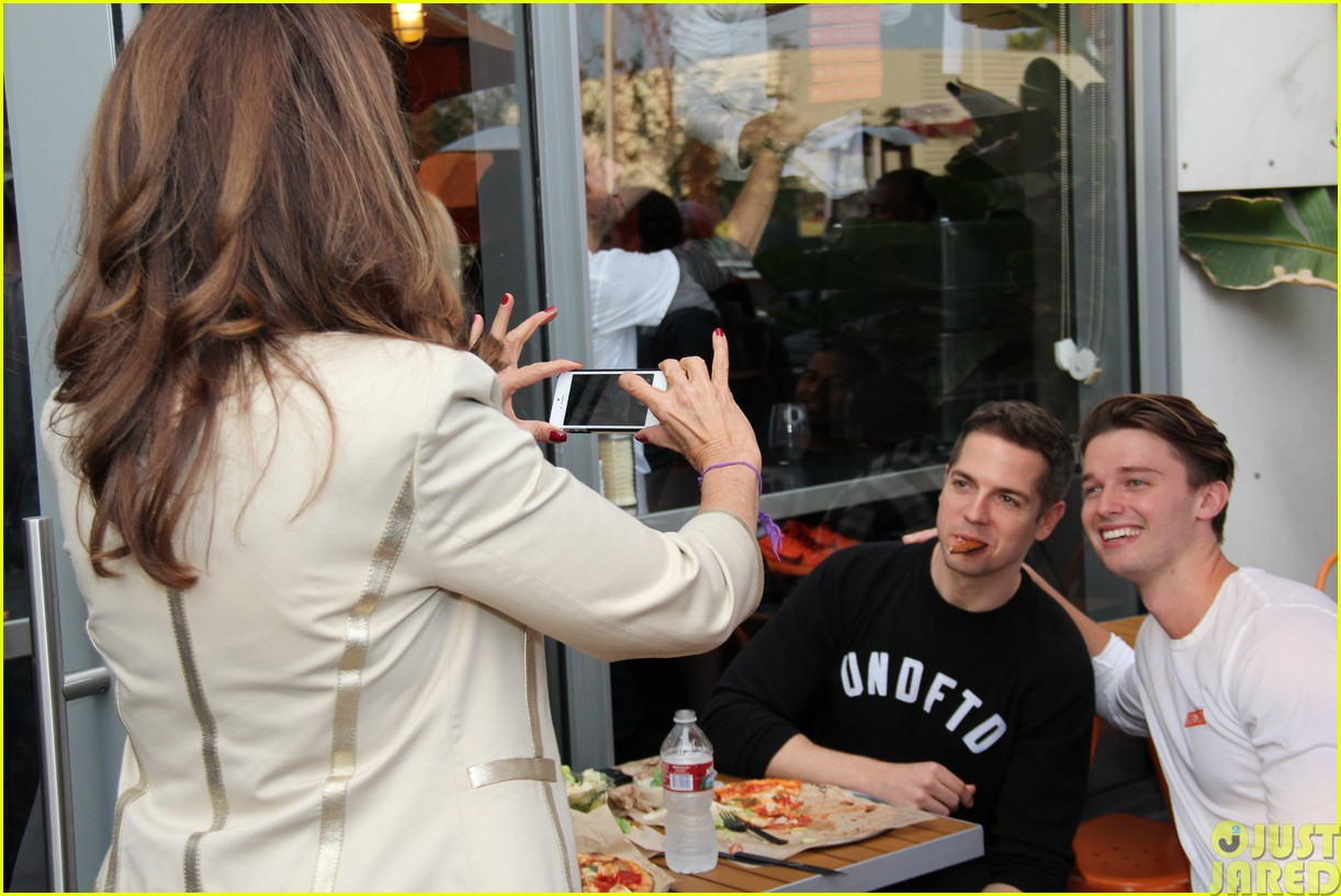 patrick schwarzenegger celebrates the opening of blaze pizza with family and friends183121546