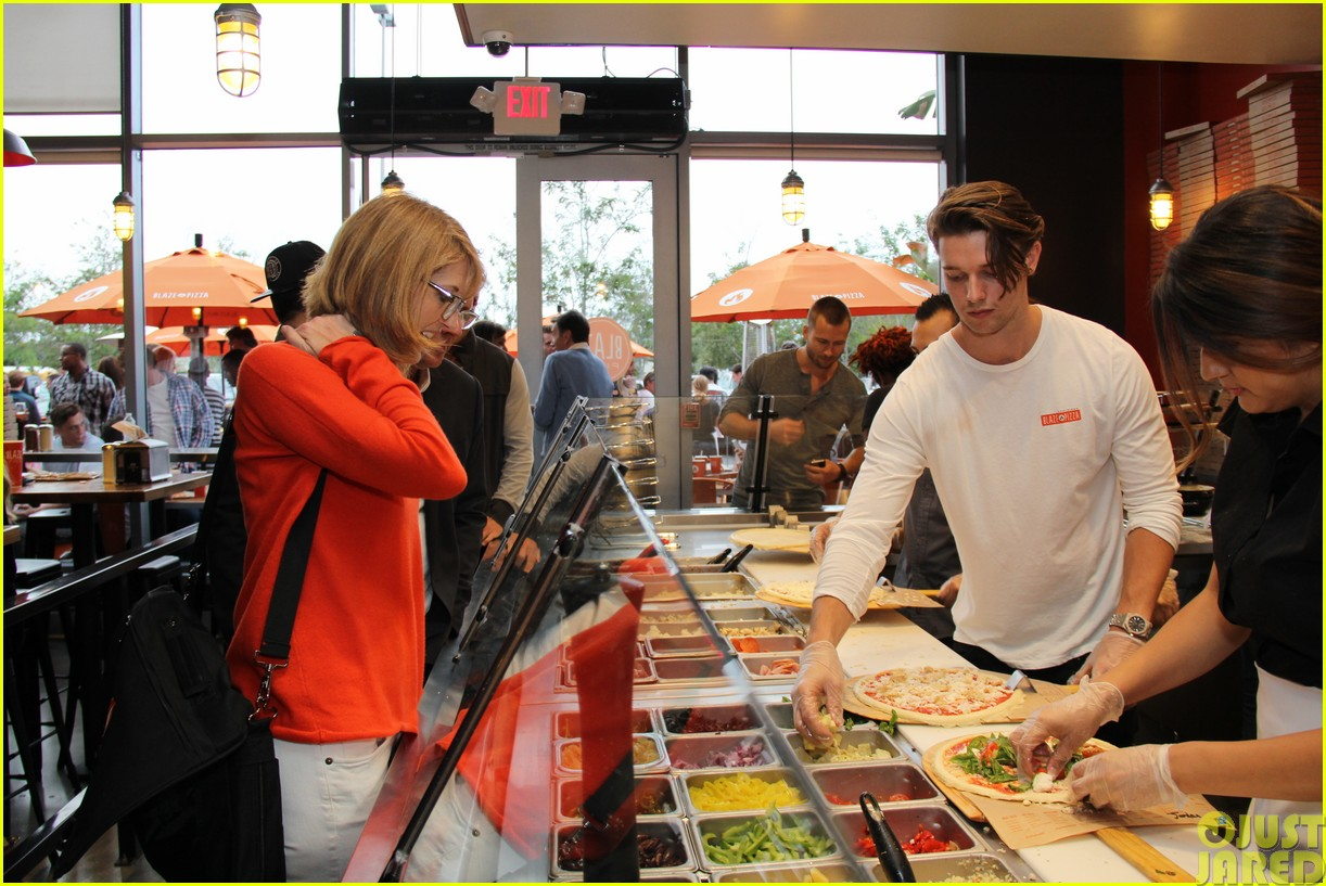 patrick schwarzenegger celebrates the opening of blaze pizza with family and friends203121548