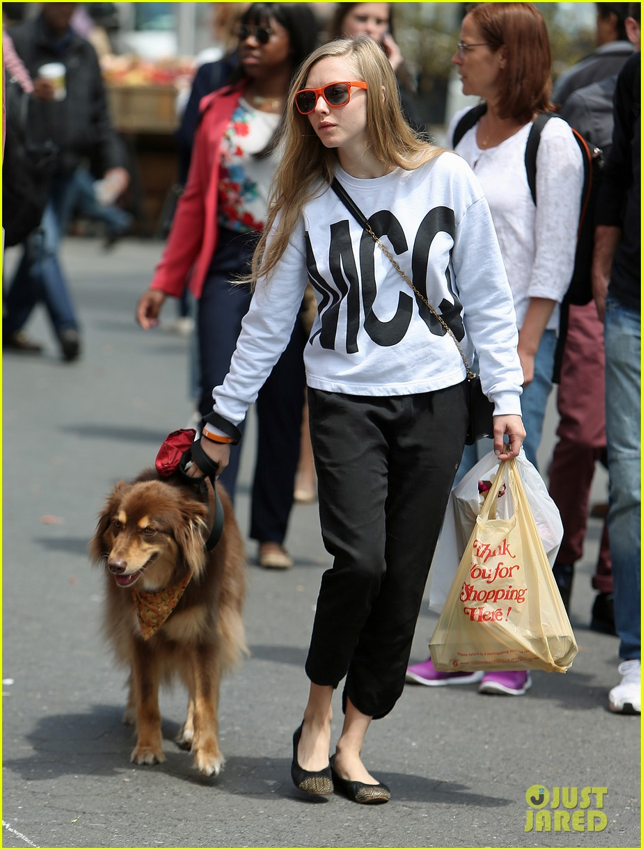 amanda seyfried is all about mcqueen on her dog walk 053108767