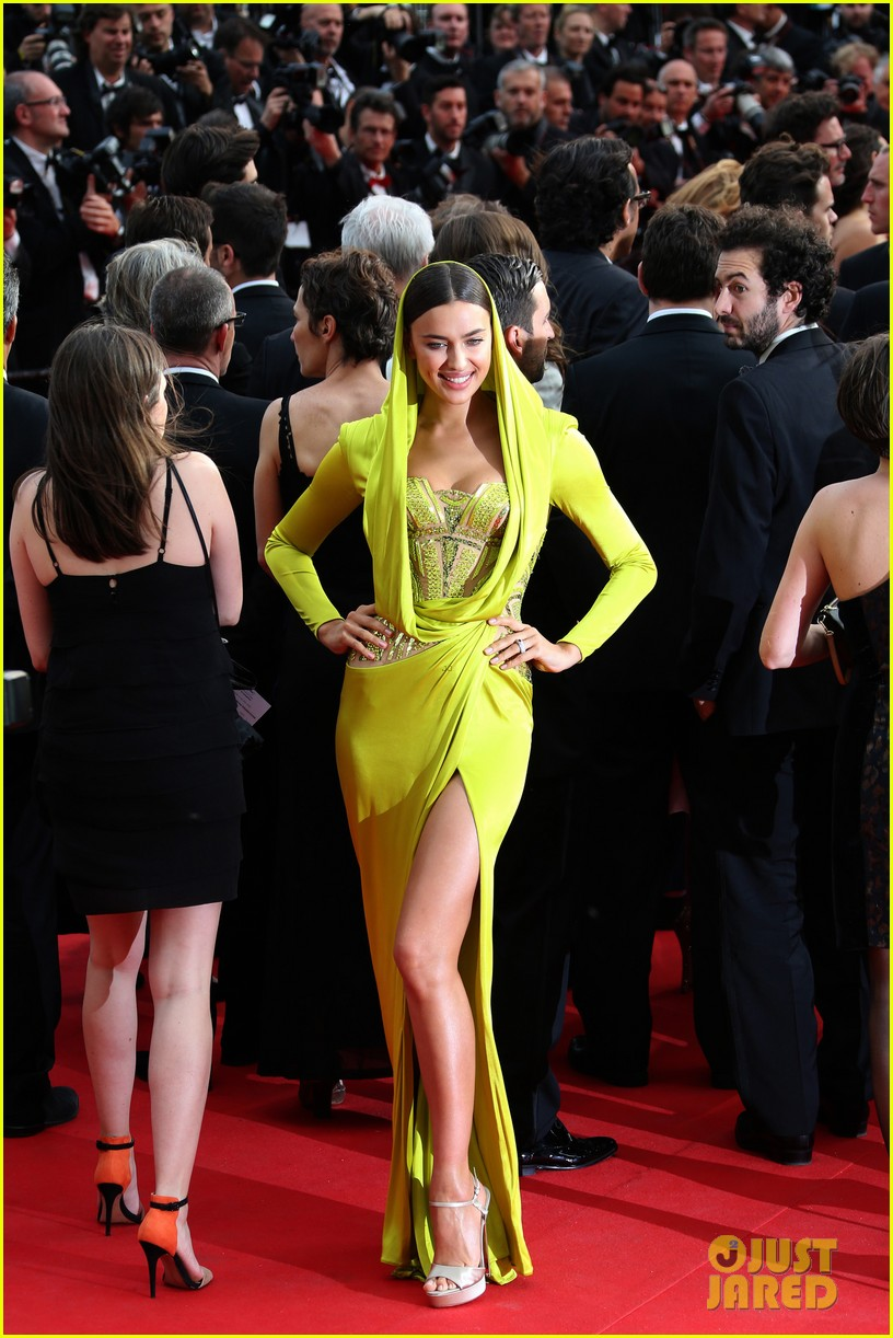 irina shayk green goddess at search premiere cannes 033119631