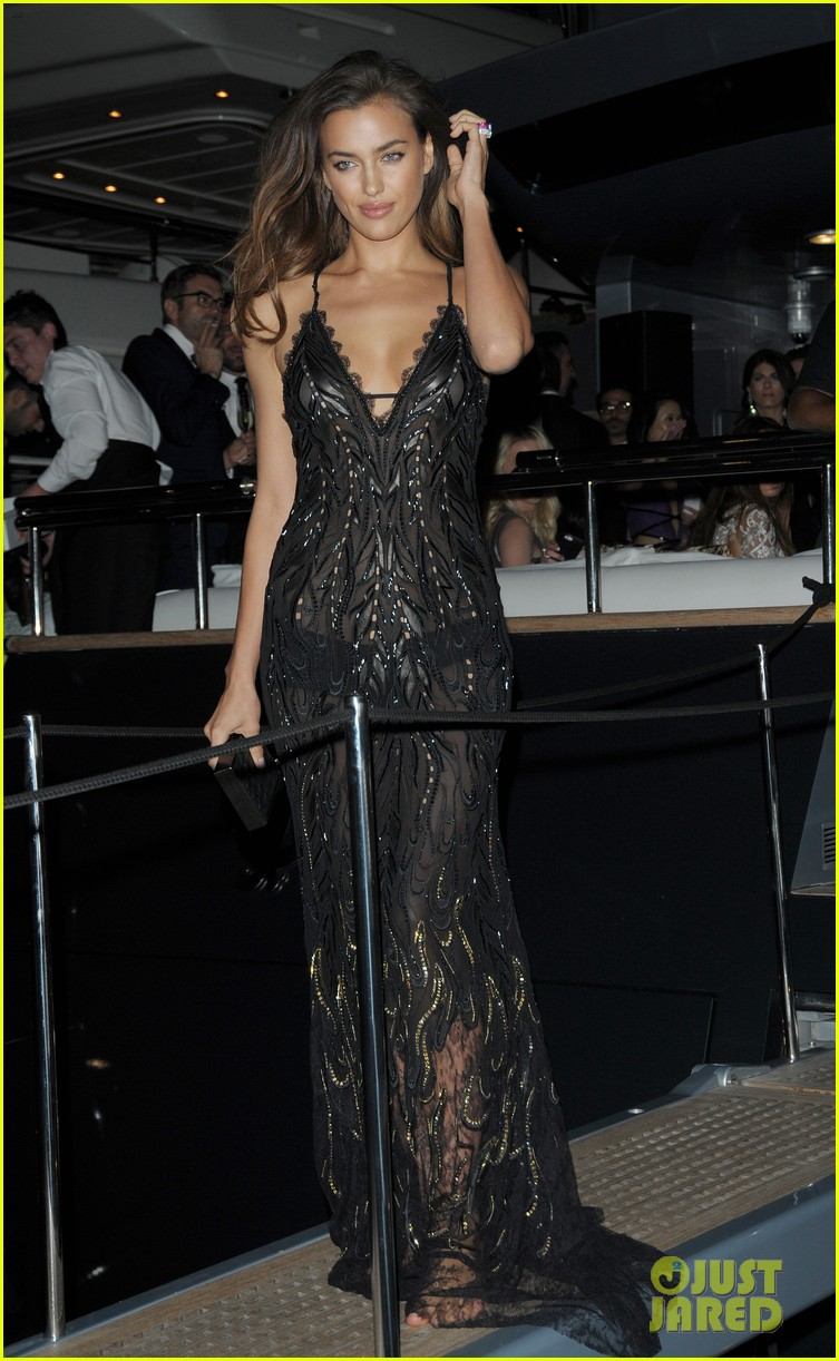 irina shayk green goddess at search premiere cannes 223119650