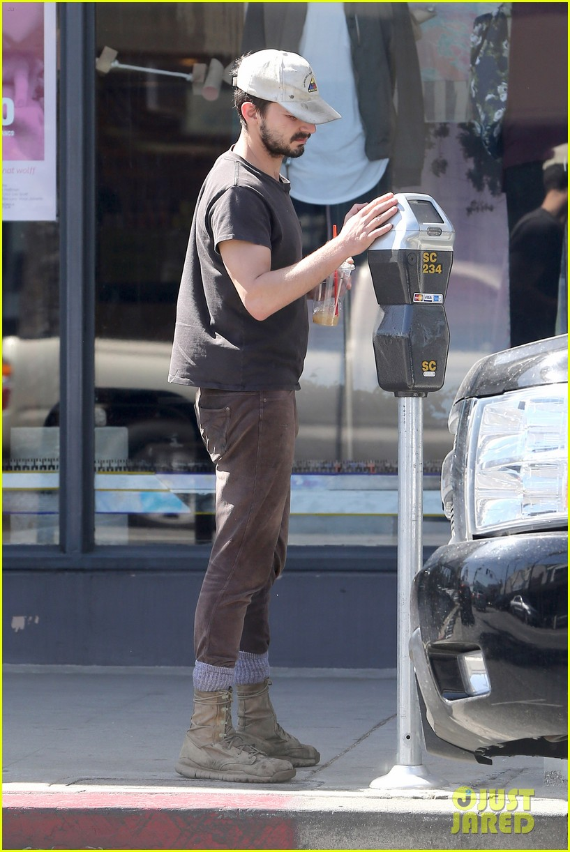shia labeouf gives us a quick peek at his bare torso 243103010