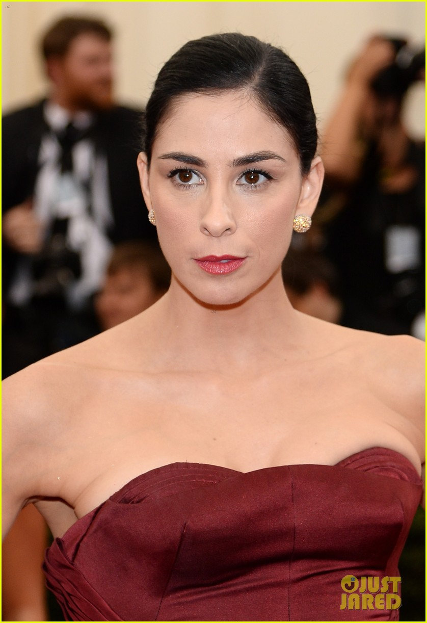 sarah silverman michael sheen met ball red carpet 023106361