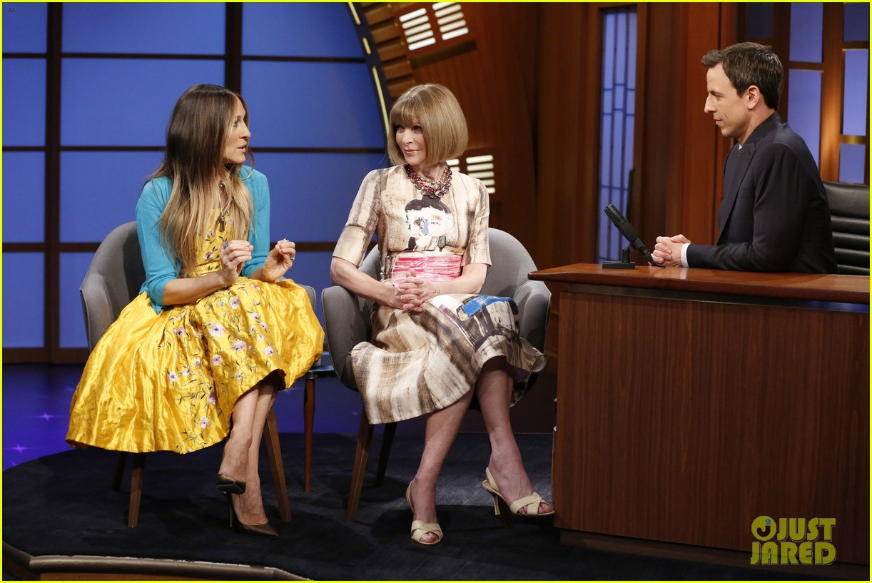 sarah jessica parker anna wintour late night 033108437