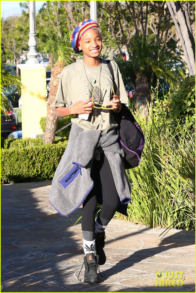 willow smith wears socks with marijuana leaf on the front 103102957