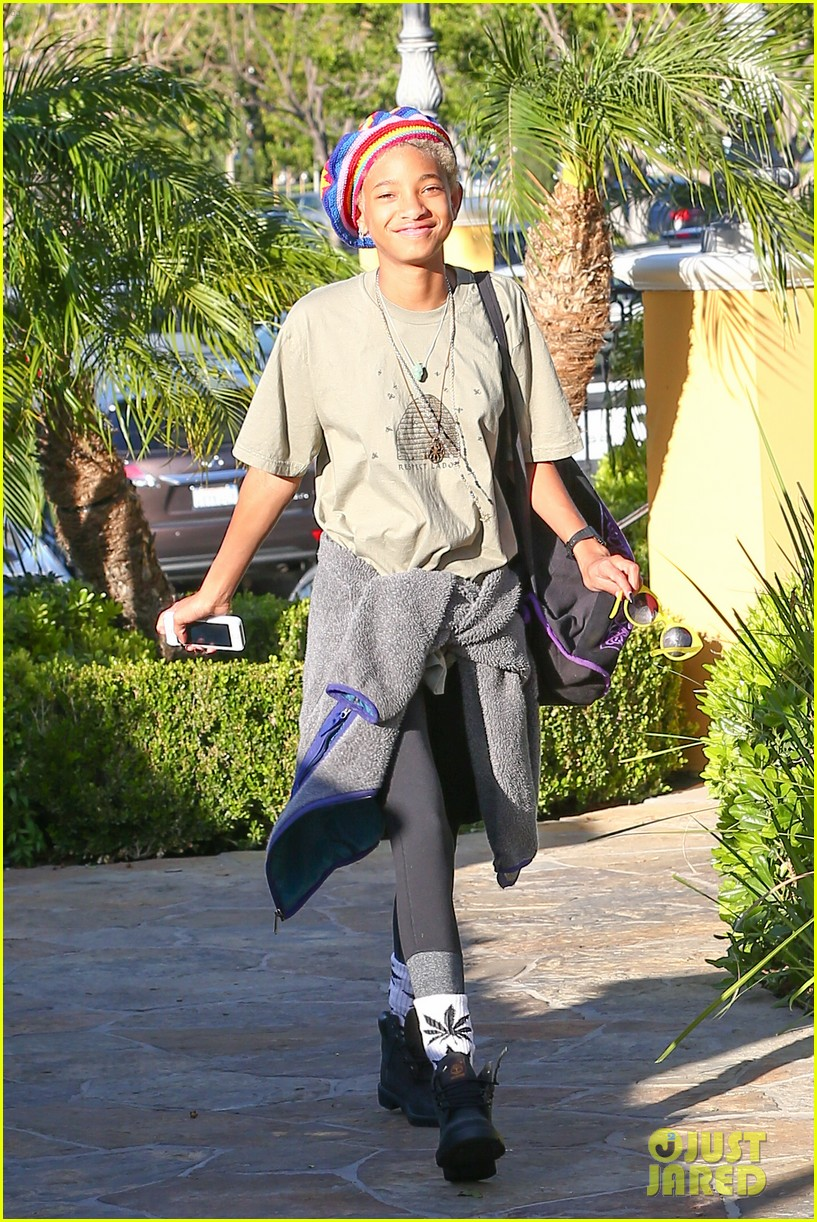 willow smith wears socks with marijuana leaf on the front 143102961